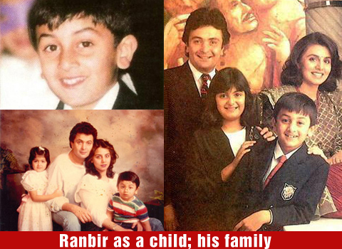 Ranbir Kapoor Childhood Photos
