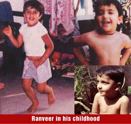 Ranveer Singh in his childhood