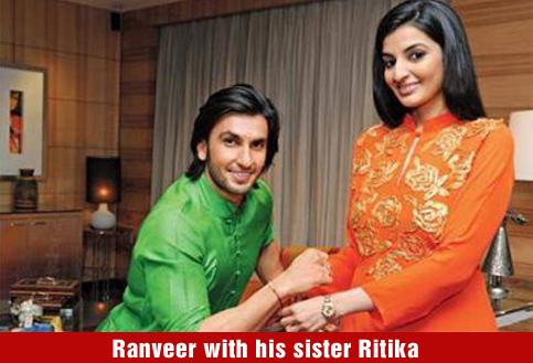Ranveer with his sister Ritika